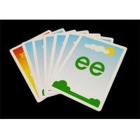 Quality Personalized Kids Educational Flash Cards , Glossy / Matt Paper Preschool Flashcards for sale
