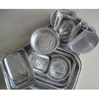 Thin Disposable aluminium foil food containers Double Bright Side Manufactures