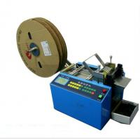 Flat Ribbon Automatic Webbing Cutting Machines Fast Speed Adjustable Cut Length Manufactures