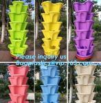 strawberry vertical stackable planter plastic garden pots flower pot,PP material Mini plastic succulent pot for home gar Manufactures