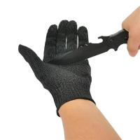 Cut Resistant Hand Protection Gloves With Black Stainless Steel Wire Mesh Manufactures