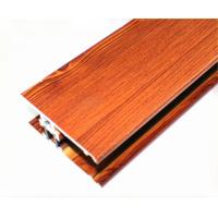 Wood Grain Powder Coating Aluminium Profiles Length Customized For Building Manufactures