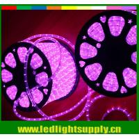 2 wire led pink color transparent neon flex wire rope lights Manufactures