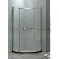 Angle Shape Single Pivot Shower Doors Stainless Steel Swing 8 MM Clear Tempered Glass Manufactures