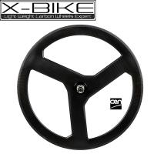 High speed 100% carbon 3 spoke bicycle wheel 700c,road tubular 3 spoke bicycle wheels Manufactures