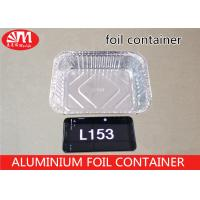 China L153 Aluminum Food Storage Containers , Disposable Aluminium Foil Trays 900ml Volume on sale