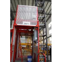 Construction Material Man Material Hoist / Lifting Hoist Equipment With Single And Double Cage Manufactures