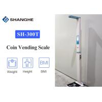 China Coin Vending Digital Body Weight Scale With Height Rod , High Print Speed Body Weight Analyzer on sale