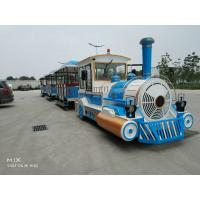 Square Safety Tourist Train Rides Kids Party Train 380V Customize Color Manufactures