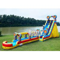 Animal Theme Inflatable Water Slides , Customized Size 25 FT Target Slip N Slide Manufactures
