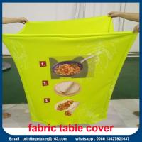 Custom Stretch Fabric Table Cover with Printing Manufactures