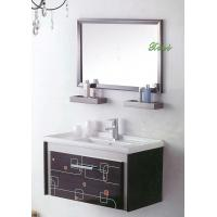 Italian classical birch solid wood floor standing illuminated mirror bathroom vanity base cabinet Manufactures