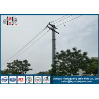 10KV Hot Dip Galvanized Electrical Power Pole Made Of Hot Roll Steel Q235 Manufactures