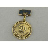 Zinc Alloy Custom Awards Medals Die Costing Antique Gold Double Side 3D Military Manufactures