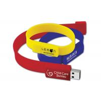 Quality 32gb USB 2.0 USB Flash Drive Wristband Logo Customized for Business Gift for sale