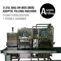 3-25L Double-head Bag-in-Box Filling Machine Sterile Products BIB Aseptic Filler for sale