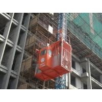 Durable RED Construction Hoist Elevator Safety with autimatic leveling device Manufactures