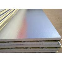 China Red / Ocean Blue Water Resistant EPS Sandwich Wall Panel For Prefab House on sale