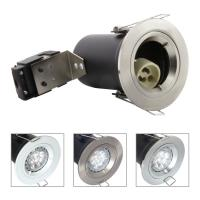 China Die Cast Aluminium GU10 Fixed Fire Rated Downlight - Satin Nickel Color on sale