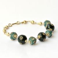 Love charm bracelet with turquoise Manufactures