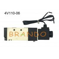 4V110-06 Industrial Air Control 1 Inch Solenoid Valve / 5 Way 2 Position Solenoid Valve Manufactures