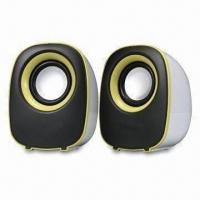 USB 2.0 Mini Speaker, Powered in 2.5W x 2, Available from 30Hz to 20Hz in Frequency Response Range Manufactures