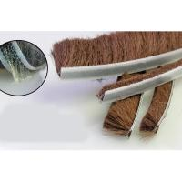 China 9mm x 23mm home door window weather wind seal brush self adhesive weather strip on sale