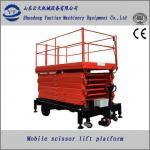 Electric and Diesel dual engine four wheels mobile scissor lift platform Manufactures