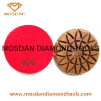 3 Inch and 4 Inch Colorful Sunflower Floor Resin Bond Polishing Pads  Manufactures