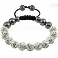 China Stainless Steel Charm Bracelets with Clear Crystal 1430033 on sale