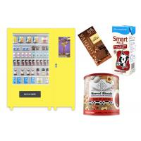 Self Automatic Snack Combo Vending Machine , Conveyor Belt Vending Locker With Elevator Manufactures