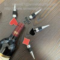 Quality Enamel Top Metal Alloy Wine Bottle Stopper with Rubber Band China Factory for sale