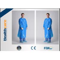 35-60G Polyethylene Disposable Isolation Gowns Yellow 110x193CM GownsWith Open Cuff Manufactures