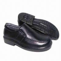 Children's school shoes with PU upper and injection outsole Manufactures