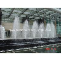 China Semicycle Large Dancing Indoor Water Fountains For Hotel Decoration on sale