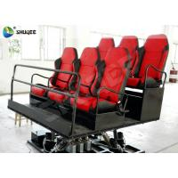 Shooting Gun Game 7D Movie Theater Hydraulic Platform Chairs for 6 People Manufactures