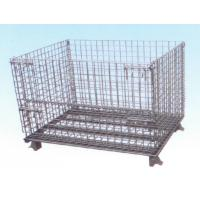 Heavy Gauge Folding Wire Mesh Container For Material Distribution With Hydraulic Porter Manufactures
