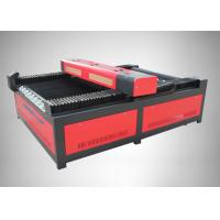 China Large Scale Red CO2 Laser Engraving Machine With Honeycomb Working Table on sale