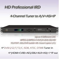 China Digital TV 4-Channel HD Professional IRD ISDB-T Demodulation SD/HD MPEG-2 and MPEG-4 AVC/H.264 digital video decoding on sale