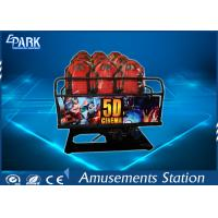 China Truck Mobile Electronic 5D Movie Theater Simulator 2 Epson Projectors 6 Seats on sale