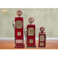 China MDF CD DVD Storage Rack Decorative Wooden Cabinet Wood Floor Cabinet Gas Pump Red Color on sale