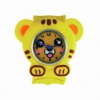 Silicone slap watch/silicone snap watch for children/kids, suitable for promotional gifts Manufactures