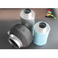 Cartridge Carbon Air Filters , Aluminum Flange Grow Room Carbon Filter Manufactures