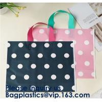100% Eco-Friendly Biodegradable Custom Design Hdpe/Ldpe Shopping Carrying Flexi Soft Loop Plastic Handle Bag Manufactures