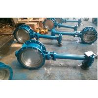 Double Flanged Butterfly Valve Adjust Tightness With Hand Wheel Dn50 To Dn400 Manufactures