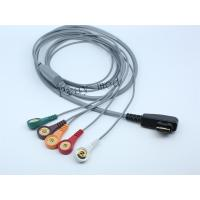 China DMS Holter ECG Patient Cable 5 / 7 / 10 Lead 19 Pin With 6 Month Warranty on sale