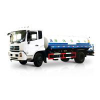 White Liquid Tanker Truck , Water Spraying Truck Front Spray Rear Sprinkling Side Spray Gun Manufactures