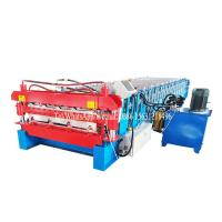 China Customized Double Layer Forming Machine Roof Automatic Tile Roll Making on sale