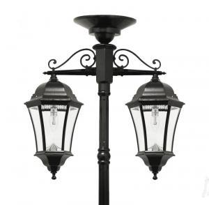 Aluminum Cast Iron Light Pole For Garden Street Lighting Outdoor Lamp Post Manufactures