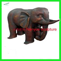 customize size animal fiberglass statue large bronze elephant model as decoration statue in garden /square / shop/ mall Manufactures